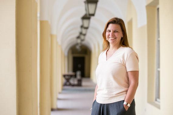 Žygimanto Gedvilos / 15min nuotr./VU studentams dėstanti dr. Urtė Lina Orlova