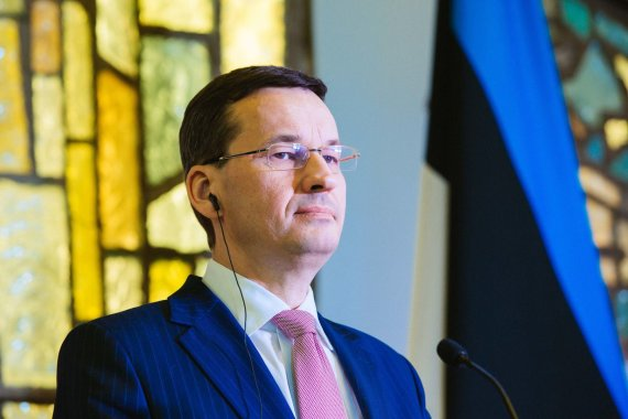 Irmanto Gelūno / 15min nuotr./Lenkijos vyriausybės vadovas Mateuszas Morawieckis