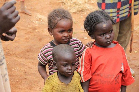 """Kelionių organizatoriaus """"GRŪDA"""" nuotr./Mažieji etiopai, Etiopija"""