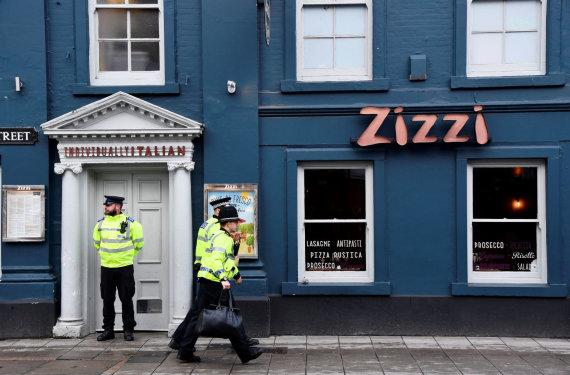 """Reuters""/""Scanpix"" nuotr./ ""Zizzi"" restoranas, prie kurio buvo rastas sąmonę praradęs Sergejus Skripalis ir jo dukra Julija"