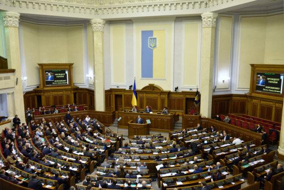 """""""Sputnik""""/""""Scanpix"""" nuotr./Ukrainos Aukščiausioji Rada"""