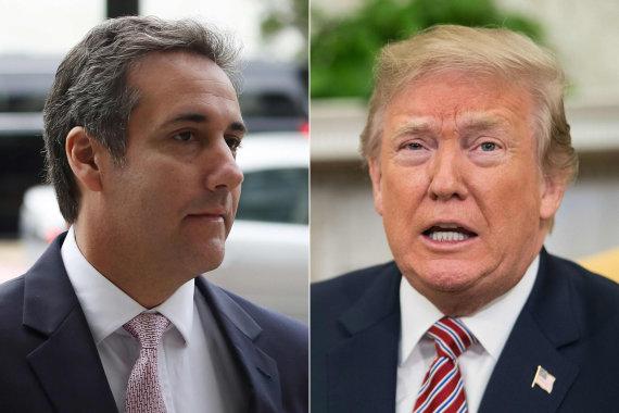 """AFP/""""Scanpix"""" nuotr./Michaelas Cohenas ir Donaldas Trumpas"""