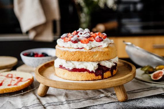 Organizatorių nuotr. /Biskvitinis Viktorijos pyragas