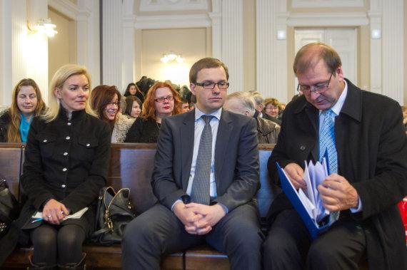 BF/Butauto Barausko nuotr./Vitalija Vonžutaitė, Vytautas Gapšys ir Viktoras Uspaskichas