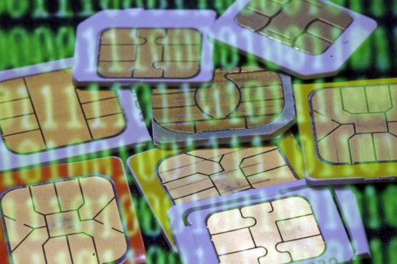 """""""Reuters""""/""""Scanpix"""" nuotr./SIM kortelės"""
