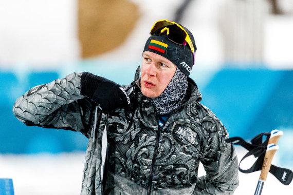 Vytauto Dranginio/LTOK nuotr./Tomas Kaukėnas olimpinių žaidynių biatlono sprinto varžybose užėmė 17 vietą.
