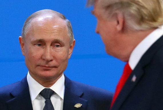"""""""Reuters""""/""""Scanpix"""" nuotr./Donaldas Trumpas ir Vladimiras Putinas"""