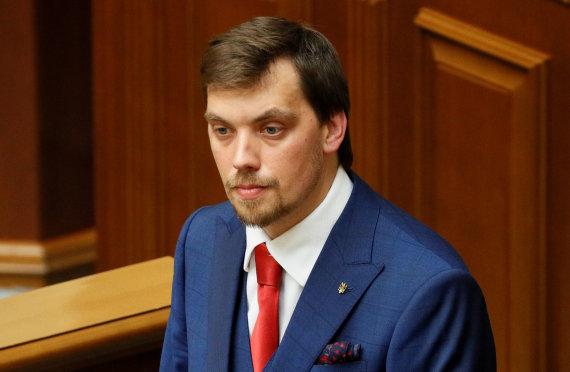 """""""Reuters""""/""""Scanpix"""" nuotr./Ukrainos premjeras Oleksijus Hončarukas"""