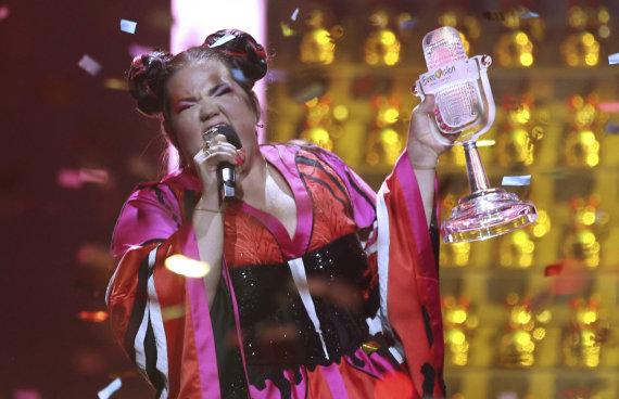 """""""Scanpix"""" nuotr./2018 metų """"Eurovizijos"""" laimėtoja – Izraelio atstovė Netta Barzilai"""
