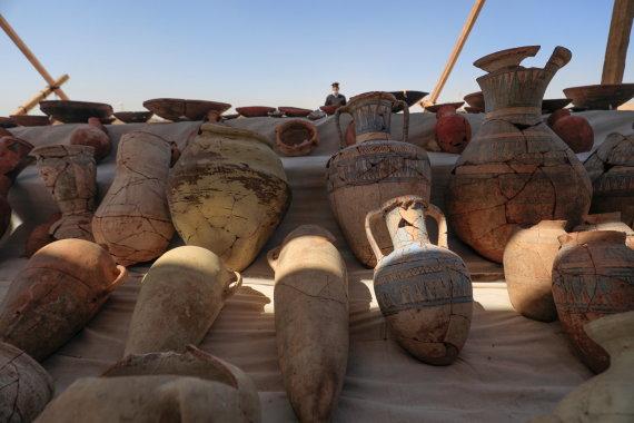 """""""Reuters""""/""""Scanpix"""" nuotr./Egiptas pristatys kasinėjimų faraonų """"aukso amžiaus mieste"""" rezultatus"""