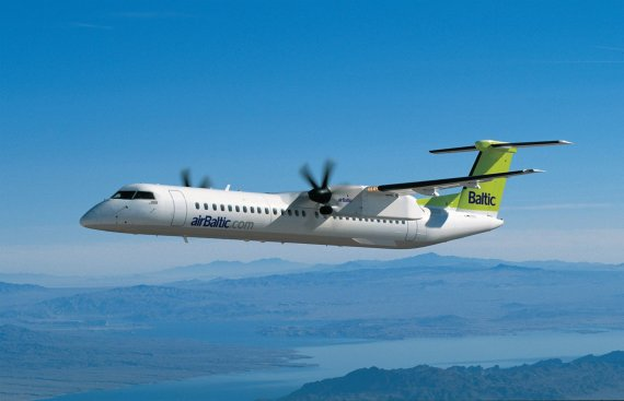 "Airbaltic.com nuotr./""Airbaltic"" lėktuvas ""Bombardier Q400 NextGen"""