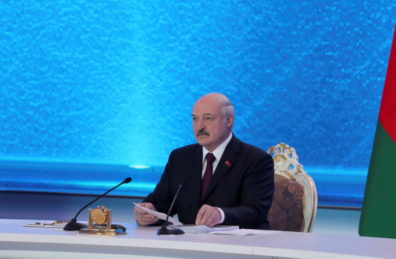 """Reuters""/""Scanpix"" nuotr./Baltarusijos prezidentas Aliaksandras Lukašenka"