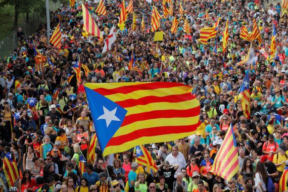 """""""Reuters""""/""""Scanpix"""" nuotr./Katalonijoje vyksta visuotinis streikas"""