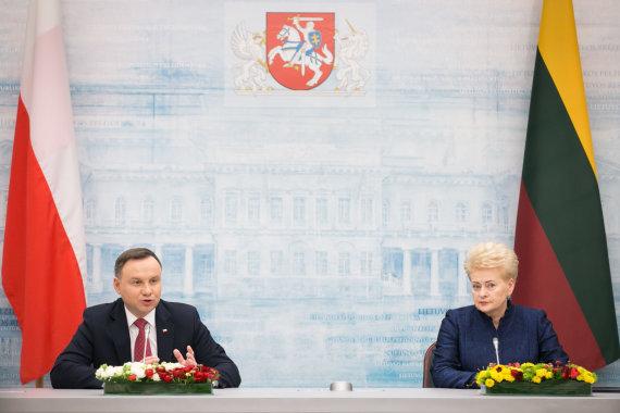 Žygimanto Gedvilos / 15min nuotr./Andrzejus Duda ir Dalia Grybauskaitė