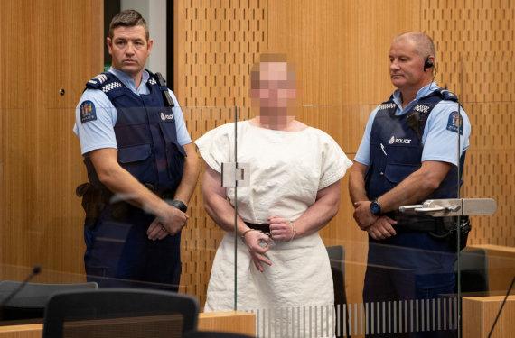 """""""Reuters""""/""""Scanpix"""" nuotr./Naujosios Zelandijos šaulys – Brentonas Harrisonas Tarrantas"""