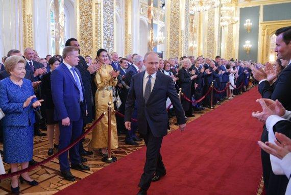 """""""Scanpix""""/""""Sputnik"""" nuotr./Prezidento Putino inauguracijos 4-ai kadencijai ceremonija"""