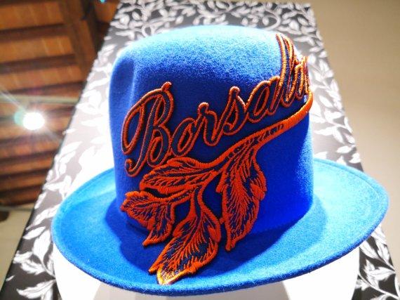 """Asmeninio arhyvo nuotr./""""Borsalino"""" skrybėlė"""