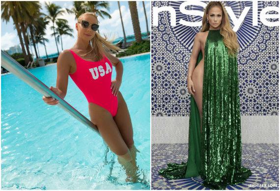 """Asmeninio albumo ir """"InStyle"""" nuotr./Rasa Vilkienė ir Jennifer Lopez"""