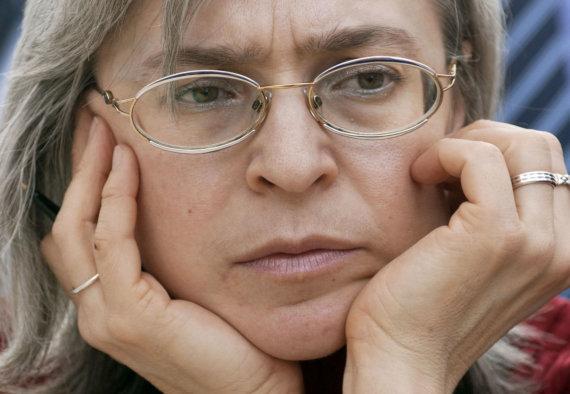 "AFP/""Scanpix"" nuotr./Ana Politkovskaja 2005 metais"