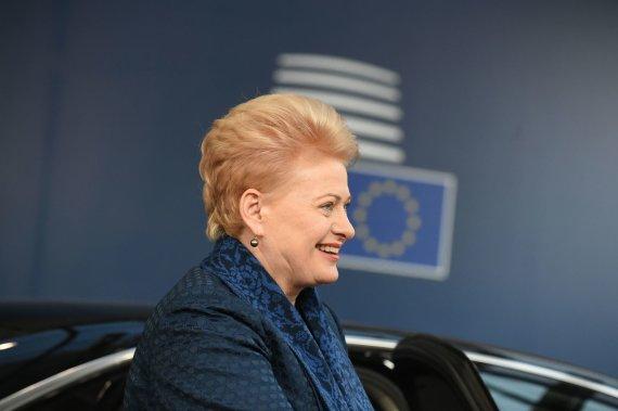 """AFP/""""Scanpix"""" nuotr./Dalia Grybauskaitė Briuselyje"""