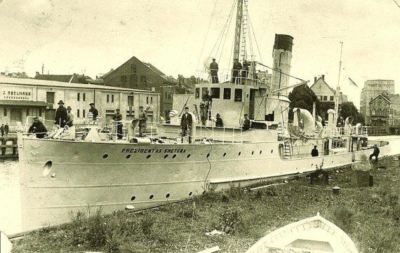 """KU nuotr./Laivas """"Prezidentas Smetona"""" buvo pirmuoju Lietuvos karinio laivyno laivu."""