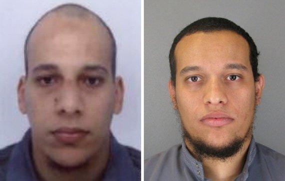 """AFP/""""Scanpix"""" nuotr./Chérifas ir Saidas Kouachi"""