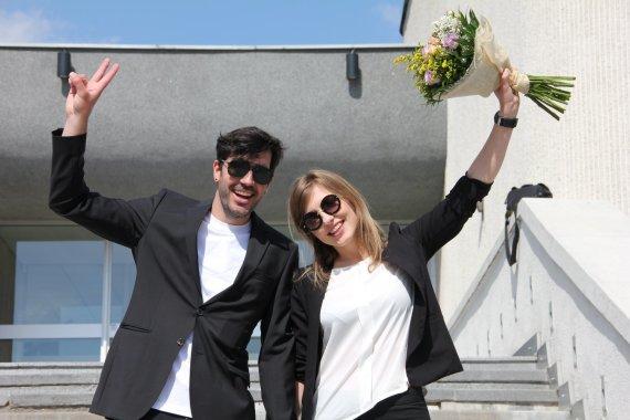 Asmeninio archyvo nuotr./Alberto Ibarso ir Mingailės Skuodytės vestuvės Santuokų rūmuose