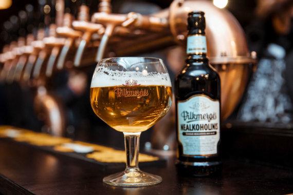 """Aludarių nuotr./""""Vilkmergės nealkoholinis"""" alus"""