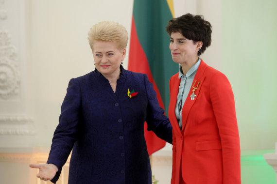 Vidmanto Balkūno / 15min nuotr./Prezidentūroje apdovanota Asmik Grigorian.