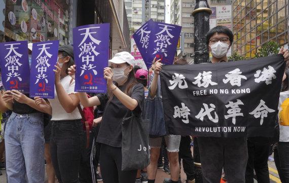 """Scanpix""/AP nuotr./Protests in Hon Kong"
