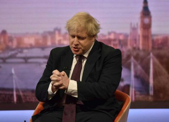 """""""Reuters""""/""""Scanpix"""" nuotr./Borisas Johnsonas BBC laidoje"""