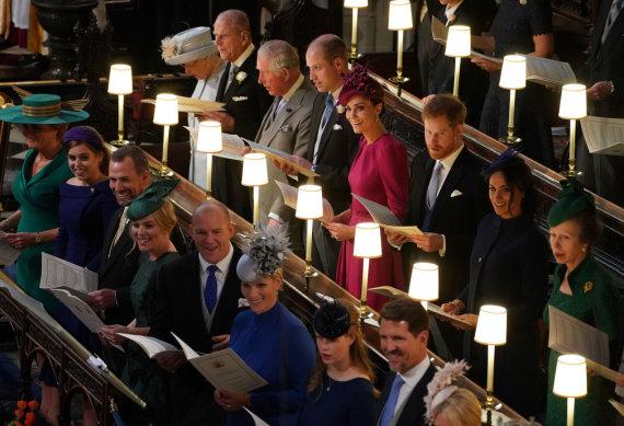 """Scanpix""/""PA Wire""/""Press Association Images"" nuotr./Princesės Eugenie ir Jacko Brooskbanko vestuvės"