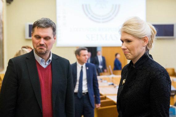 Irmanto Gelūno / 15min nuotr./Vincentas Vobolevičius ir Laura Matjošaitytė