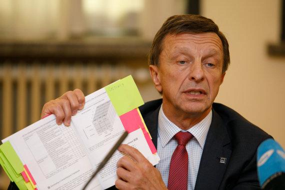 Eriko Ovčarenko / 15min nuotr./Petro Baršausko spaudos konferencija