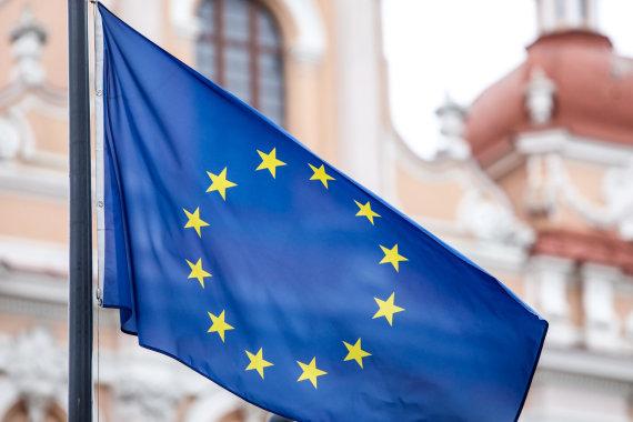 Juliaus Kalinsko / 15min nuotr./Europos Sąjungos vėliava