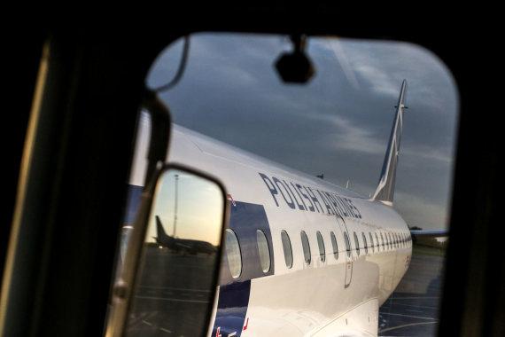 Vidmanto Balkūno / 15min nuotr./Lenkijos avialinijos pristato naują lėktuvų reisą į Londono miesto aerouostą