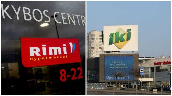 15min nuotr./Prekybos centras RIMI ir prekybos centras IKI