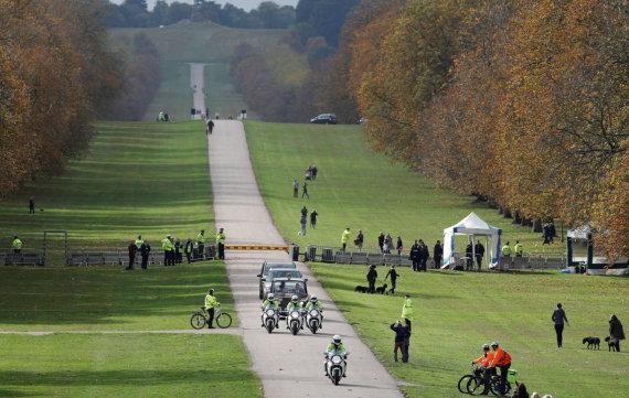 """""""Reuters""""/""""Scanpix"""" nuotr./Princesė Eugenie atvažiuoja į savo vestuves"""