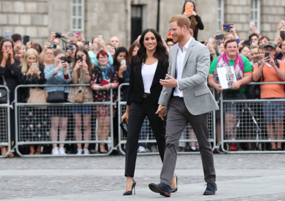 """Scanpix""/""PA Wire""/""Press Association Images"" nuotr./Sasekso hercogienė Meghan ir princas Harry"
