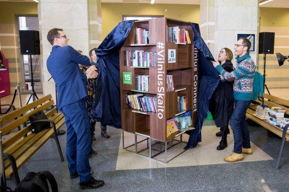 Josvydo Elinsko / 15min nuotr./Geležinkelio stotyje buvo atidaryta visą parą veikianti skaitykla