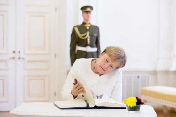 Luko Balandžio / 15min nuotr./Dalia Grybauskaitė susitiko su Vokietijos kanclere Angela Merkel