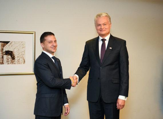 Prezidentūros/R.Dačkaus nuotr./Volodymyras Zelenskis ir Gitanas Nausėda