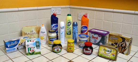 """""""Scanpix""""/""""PA Wire""""/""""Press Association Images"""" nuotr./""""Unilever"""" produktai"""