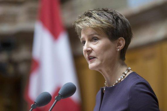 """""""Scanpix""""/AP nuotr./Šveicarijos prezidentė Simonetta Sommaruga"""