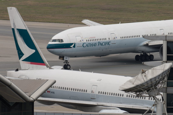 "AFP/""Scanpix"" nuotr./""Cathay Pacific"" lėktuvai"