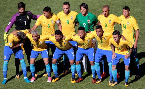 """Reuters""/""Scanpix"" nuotr./Brazilijos futbolo rinktinė"