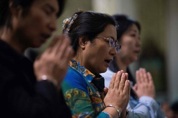 """AFP/""""Scanpix"""" nuotr./Krikščionys Kinijoje"""