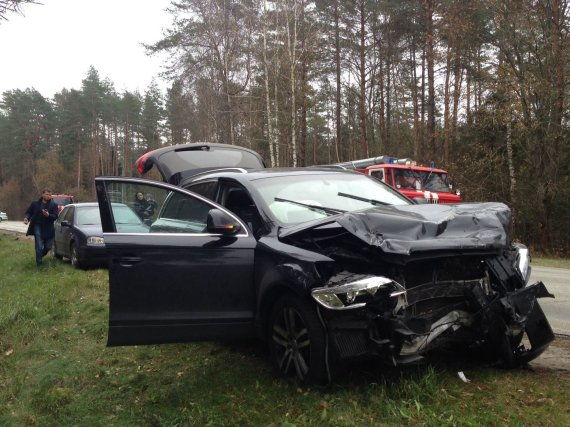 "15min.lt nuotr./""Audi Q7"" po avarijos"