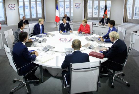 """""""Scanpix""""/AP nuotr./G-7 susitikimas Prancūzijoje"""