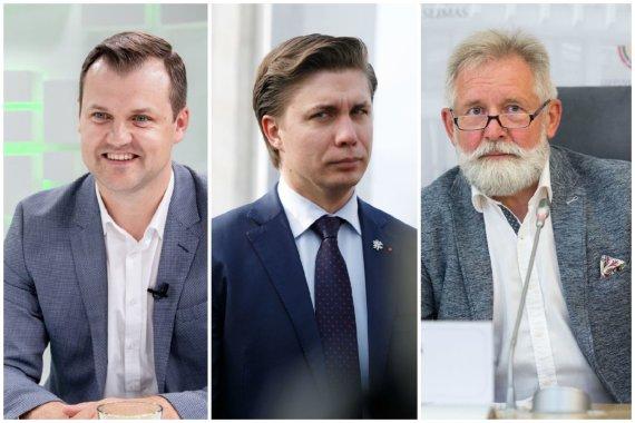 15min nuotr./Gintautas Paluckas, Mindaugas Sinkevičius ir Algirdas Sysas
